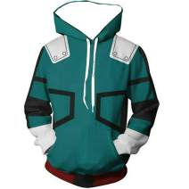 3D Hoodie Boku No Hero Academia My Hero Academia Izuku Midoriya Hoodies Cosplay Costume Jacket Adult Unisex