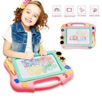 FONLLAM Magnetic Drawing Board - Kids Magna Writing Doodle Board - Toys for Toddlers 2 3 4 Years Old Girls, Boys, Erasable Pad for Writing Painting