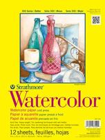 "Strathmore (360-118 STR-360-118 12 Sheet Watercolor Taped Pad, 18 by 24"", 18""x24"""