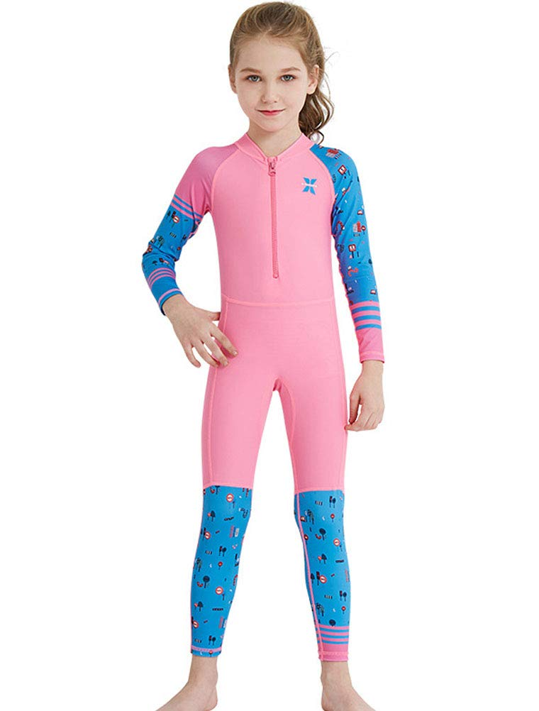 Skijakkeset Kids Long Sleeve Full Wet Suit, 2.5 mm Neoprene UV Protection Thermal Swimsuit, Youth Boys Girls One Piece Diving Suits for Scuba Diving, Full Suit and Shorty Swimsuit