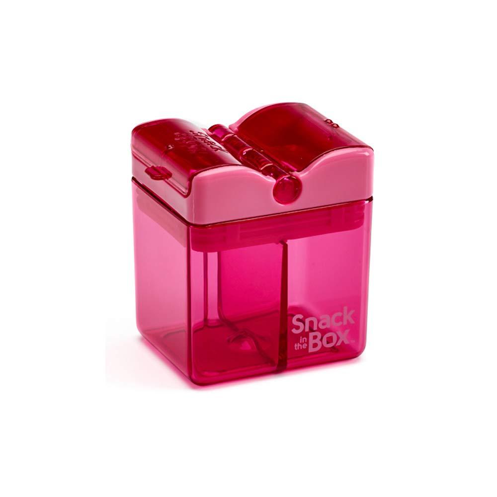 Precidio Design 1001PK Snack in the Box NEW Little Finger-Friendly Eco-Friendly Reusable Snack Box Container (Pink)
