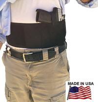 AlphaHolster Belly Band Hand Gun Holster - Abdomen Holster - Cross Draw w/Magazine Holder Pocket