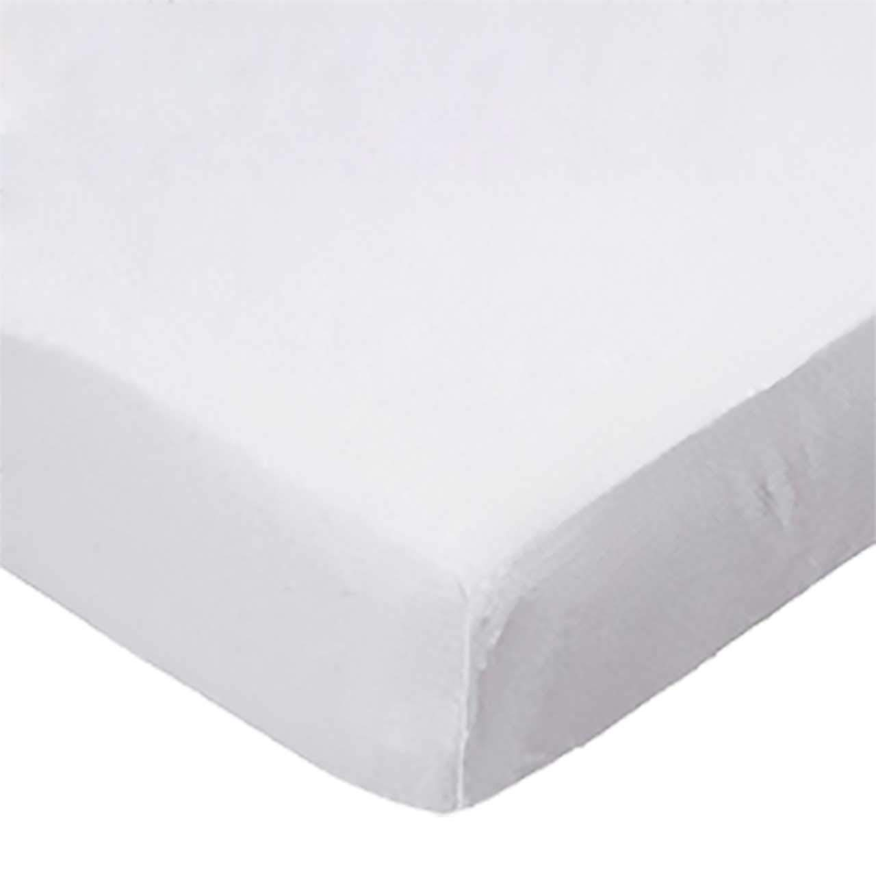 SheetWorld Fitted Portable / Mini Crib Sheet - Solid White Jersey Knit - Made In USA