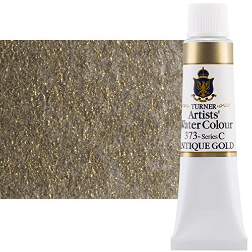 Turner Concentrated Professional Artists' Watercolor Paint 15ml Tube - Antique Gold