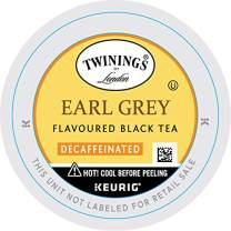 Twinings of London Decaffeinated Earl Grey Tea K-Cups for Keurig, 24 Count (Pack of 2)