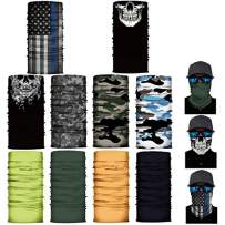 10 Pack of Sun UV Dust Protection Windproof Bandana Face Clothing Neck Gaiter Cover Magic Scarf Balaclava Scarf
