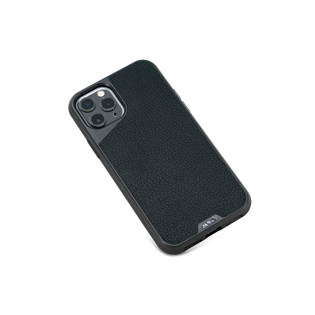 Mous - Protective Case for iPhone 11 Pro - Limitless 3.0 - Black Leather - No Screen Protector
