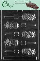 Cybrtrayd F002 Pineapple Lolly Chocolate Candy Mold with Exclusive Cybrtrayd Copyrighted Chocolate Molding Instructions