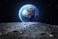 Baocicco 10x7ft Vinyl Cosmic Sky Backdrop Galaxy Photography Background Blue Earth Seen from The Moon Surface Mysterious Stars Boy Room Indoor Decors Wallpaper Children Adults Portrait Photo Studio