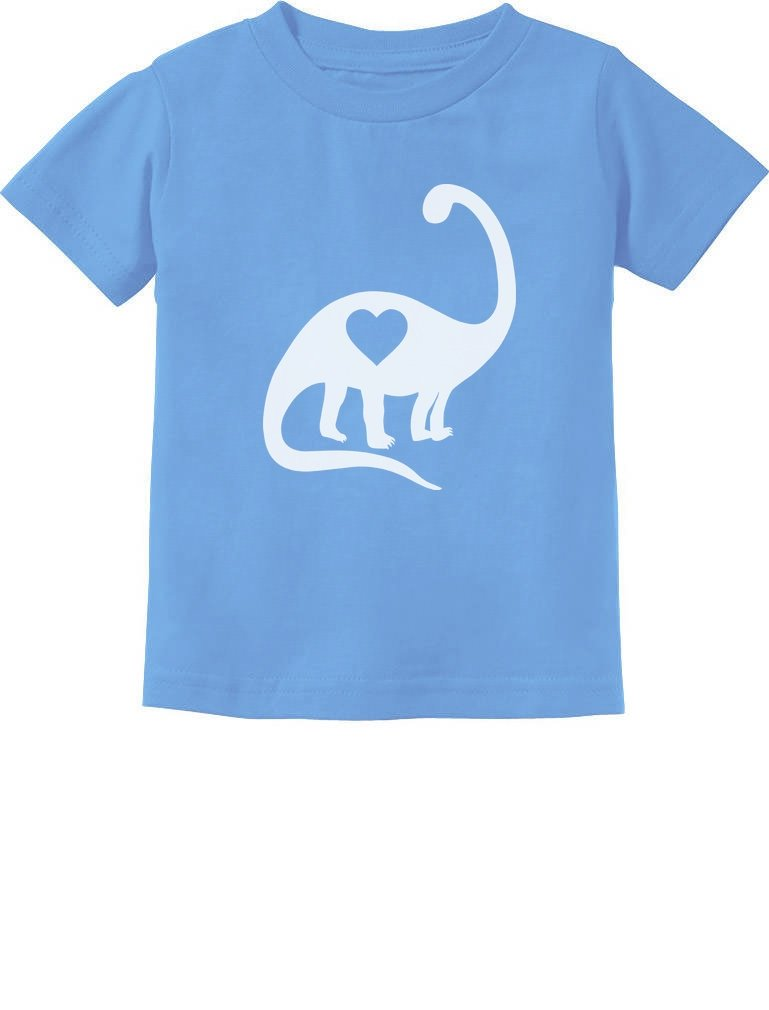 Dinosaur Love Heart Valentine's Day Outfit Cute Toddler Kids T-Shirt