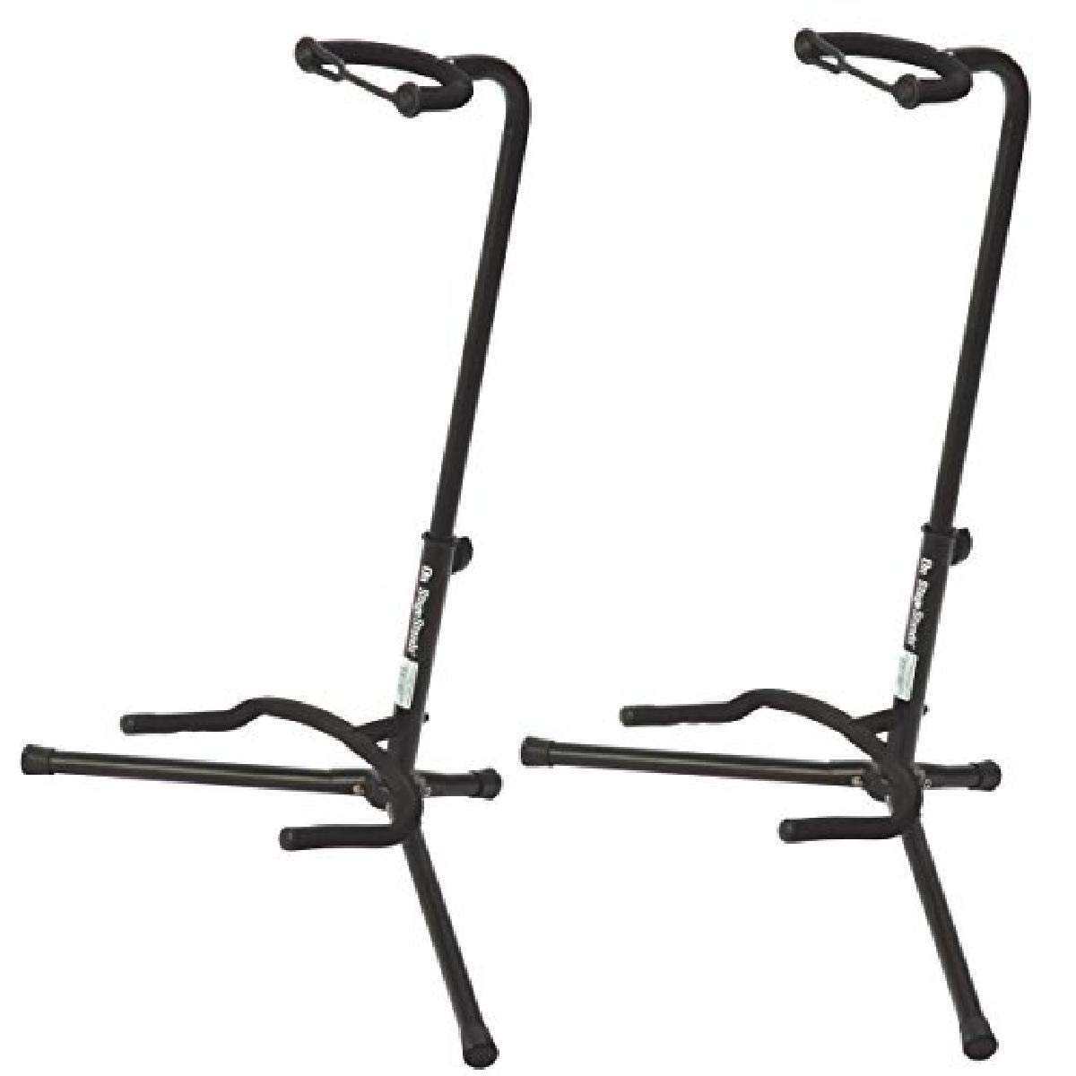 On Stage XCG4 Velveteen Padded Tubular Guitar Stand - (2 Pack)