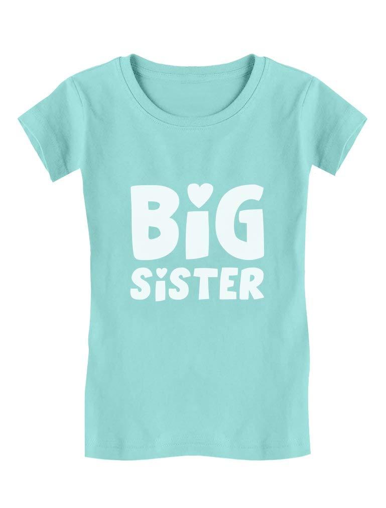 TeeStars - Big Sister - Elder Sibling Gift Idea Cute Girls' Fitted Kids T-Shirt