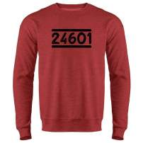 Pop Threads Prisoner 24601 Halloween Costume Crewneck Sweatshirt for Men