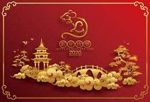 Baocicco 12x8ft Happy Chinese New Year Backdrop Welcome to 2020 Year of The Rat Chinese Wonderland Scene Photography Background Chinese New Year Eve Party Celebration New Year Greeting Photo Prop