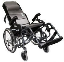 "Karman Healthcare VIP515-16 Foldable Tilt in Space, Diamond Black, 20"" Rear Wheels and 16"" Seat Width"