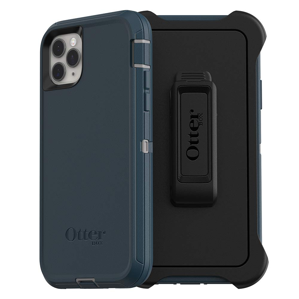 OtterBox DEFENDER SERIES SCREENLESS EDITION Case for iPhone 11 Pro Max - GONE FISHIN (WET WEATHER/MAJOLICA BLUE)