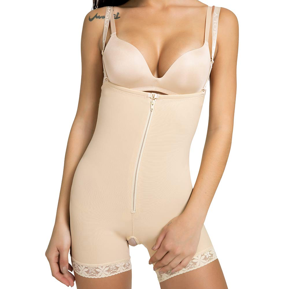 SHAPERIN Women's Open Bust Bodysuit Shapewear Underwear Tummy Control Shapewear Butt Lifter Bodysuit Panties