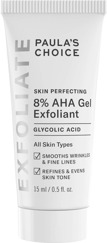 Paula's Choice SKIN PERFECTING 8% AHA Gel Exfoliant with Glycolic Acid Soothing Chamomile & Green Tea, Travel Size Leave-On Gentle Exfoliator.5 oz