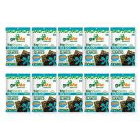 gimMe Organic Roasted Seaweed - Sea Salt - Big Sheets - Keto, Vegan, Gluten Free - Great Source of Iodine and Omega 3's - Healthy On-The-Go Snack for Kids & Adults - (.92oz) - (Pack of 10)