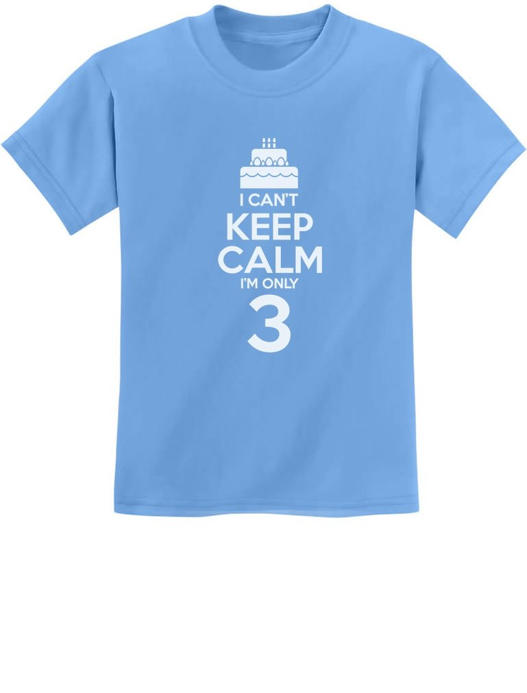 Gift for 3 Year Old Birthday Cake - I Can't Keep Calm I'm Only 3 Kids T-Shirt