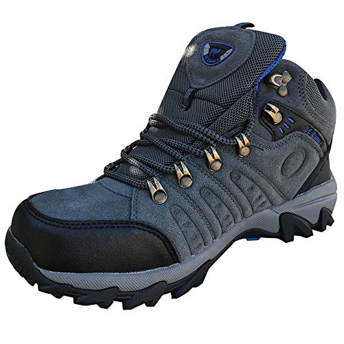 3C Camel Updated 5696 Mens Walking Hiking Trail Waterproof Ventilated Mid High-Cut Gray Boots