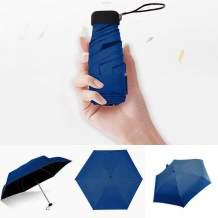 UNBRUVO Upgraded 8 Ribs Mini Portable Sun&Rain Lightweight Windproof Umbrella - Compact Parasol Outdoor Travel Umbrella for Men Women Kids (Navy)