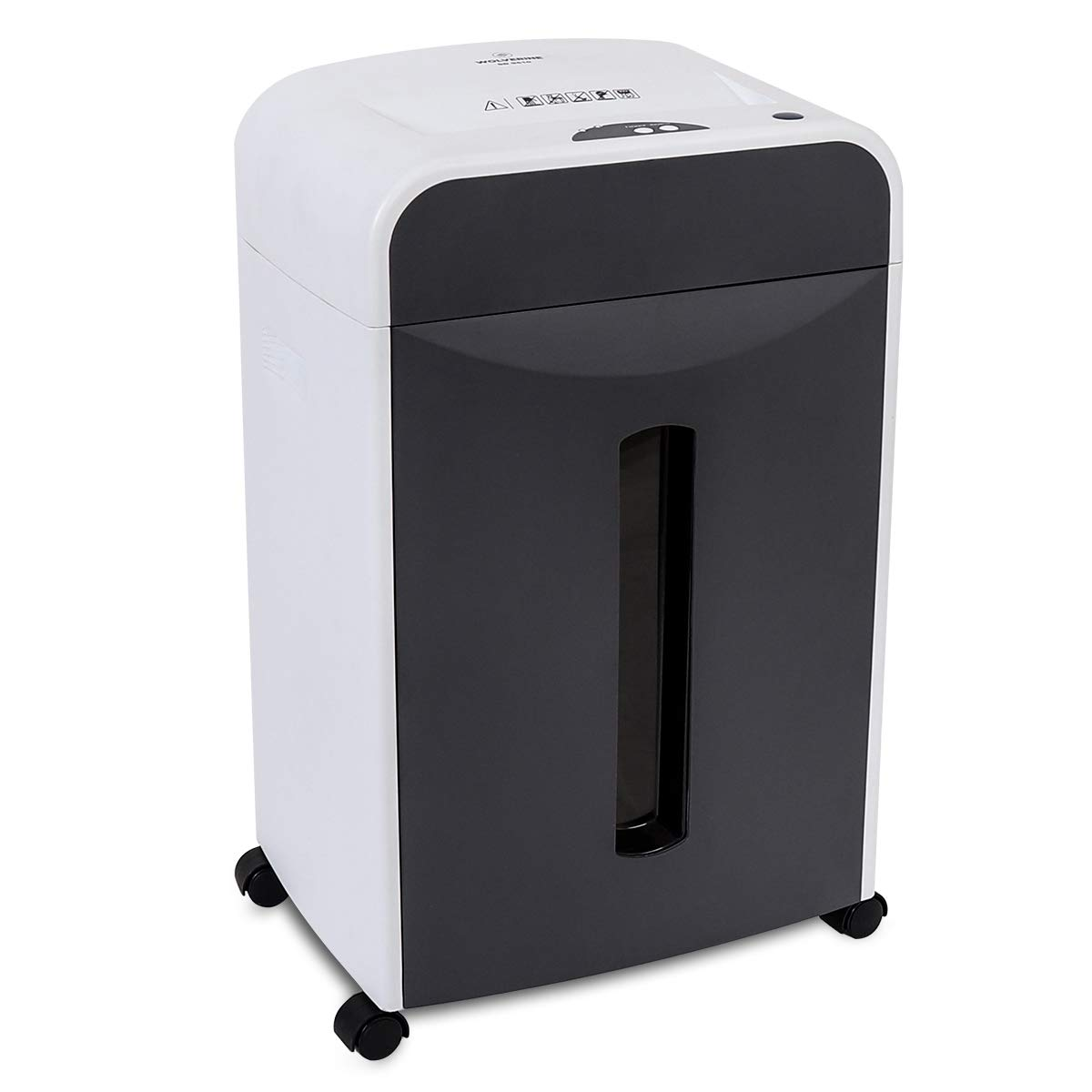 WOLVERINE 6-Sheet 2x6mm Super Micro Cut High Security Level P5 Ultra Quiet Paper/Credit Card Shredder for Home Office with Manganese Cutter and 5 Gallons Pullout Waste Bin SD9610 (White)