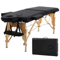 Massage Table Massage Bed Spa Bed Portable 73 Inch 2 Folding Height Adjustable W/Face Cradle Carry Case Spa Table for Salon Beauty Treatment Tattoo Household