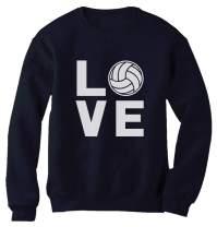 Love Volleyball Sweatshirt Volleyball Gift Teen Girls Women Pullover Sweatshirt