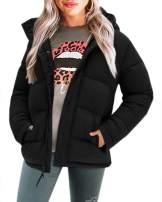 Yskkt Women Hooded Down Jackets Heavy Weight Winter Warm Full Zip Puffer Coat Outwear with Pockets