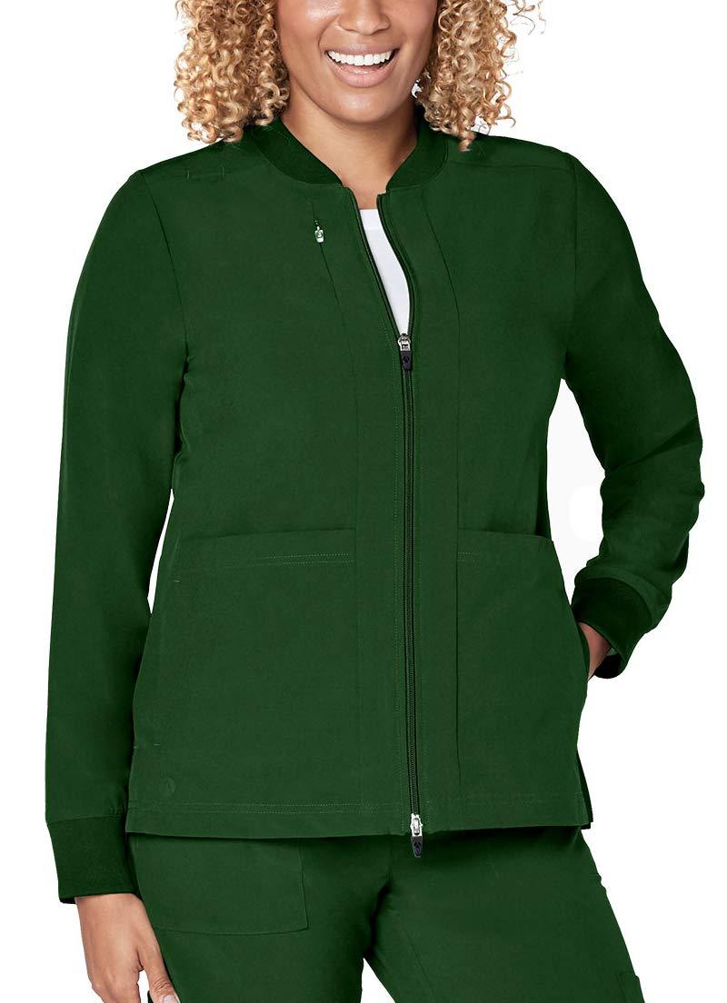 Adar Addition Scrubs for Women- Classic Bomber Scrub Jacket