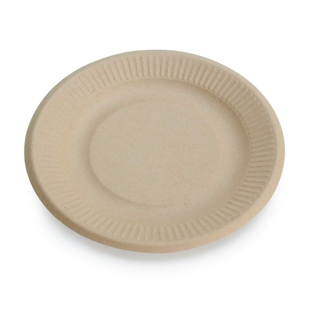 """Earth's Natural Alternative Wheat Straw Eco-Friendly, Compostable Plant Fiber 6"""" Plate, 125 Count"""