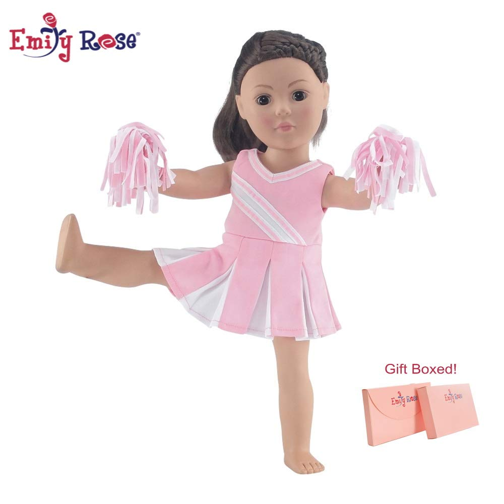 """Emily Rose 18 Inch Doll Pink Cheerleader Outfit 