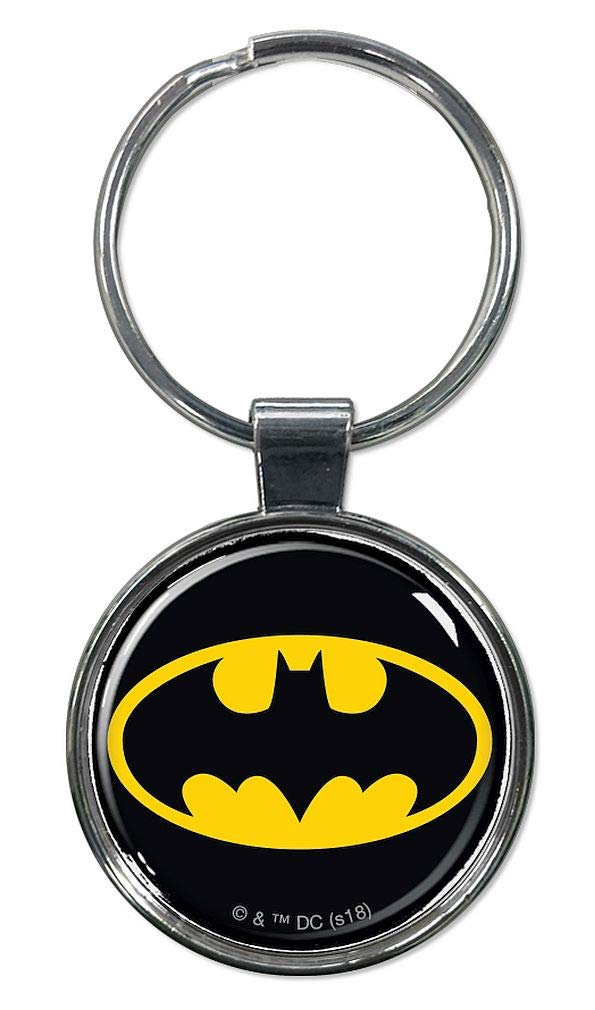 "Ata-Boy DC Comics Batman Logo 1.5"" Fob Keychain for Keys, Backpack Pulls and More"