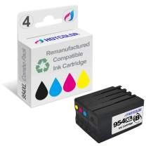 HOTCOLOR 4 Pack 954 XL Remanufactured Replacement for HP 954XL Black Cyan Magenta Yellow Ink Cartridge for 7740 8210 8710 8720 8730 (SA Area) Printer