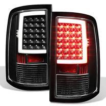 For 2009-2018 Dodge Ram 1500 10-18 2500/3500 Black LED Tube Tail Lights Lamps Pair (Driver+Passenger) Side