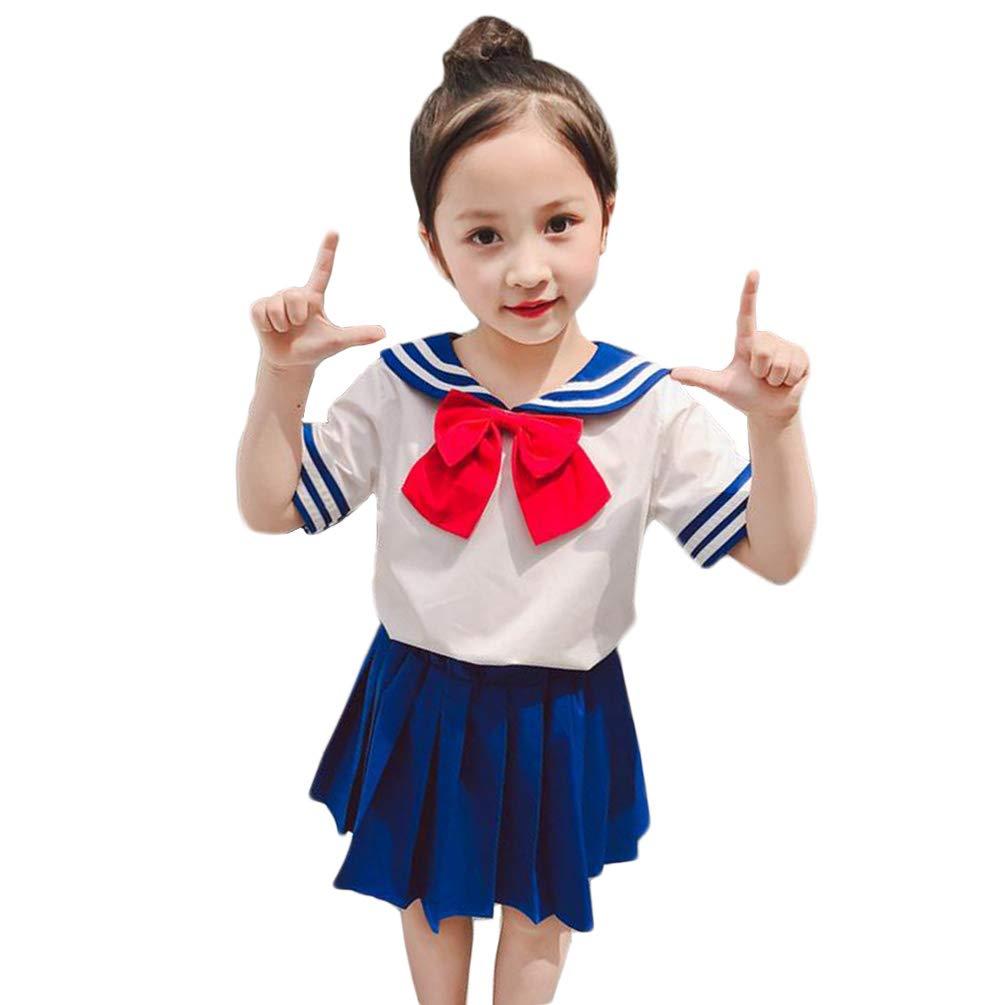 NSPSTT Girls Sailor Moon Cosplay School Unifrom Japanese Anime Dress Short Sleeve