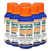 TheraBreath Healthy Gums Oral Rinse, 3 Fl Oz, Pack of 6