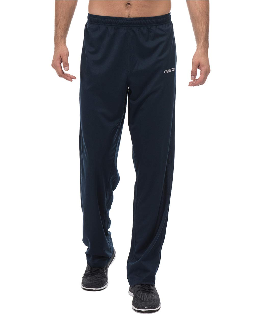 CENFOR Men's Sweatpants with Pockets Open Bottom Workout Pants, for Athletic, Jogging, Training, Casual