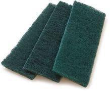 "Carlisle 4072908 Sparta Synthetic Meat Slicer Scrub Pad, 4-1/2"" Length x 1.62"" Width, Green"