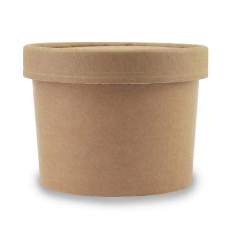 [50 Count] 12 oz Freezer Containers And Lids - Kraft Paper To Go Cups - Durable Heavy Duty Ice Cream Containers! Non-vented Lids Prevent Freezer Burn! Frozen Dessert Supplies