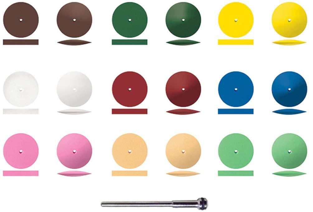 Dedeco Sunburst 7/8 Inch Wheel Assortment 19/Kit