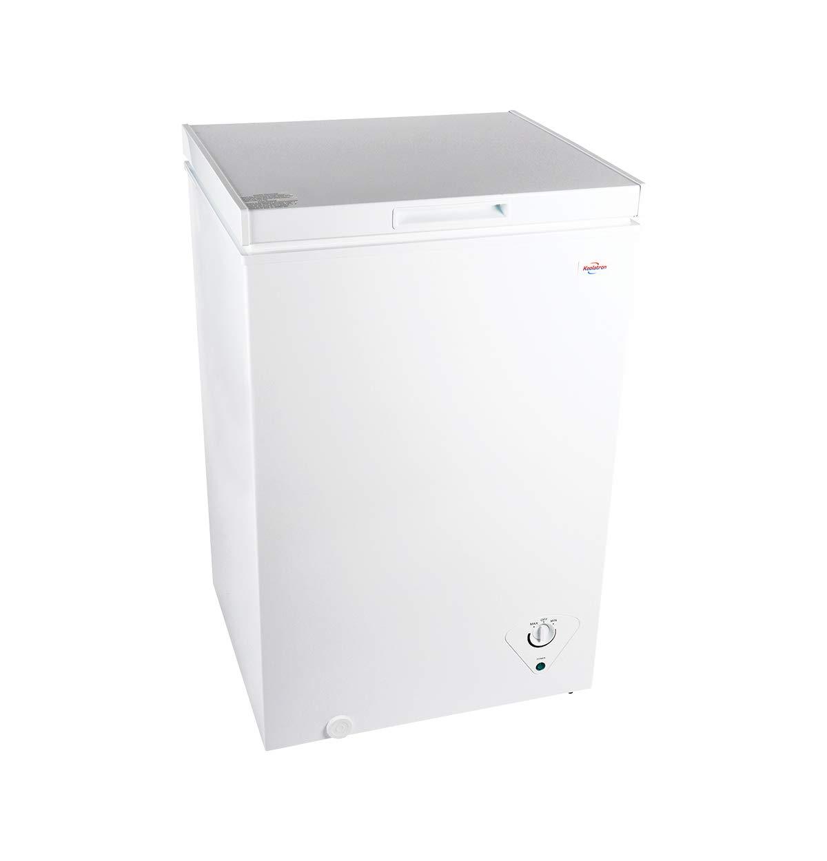 Koolatron KTCF99 3.5 Cubic Foot (99 Liters) Chest Freezer with Adjustable Thermostat
