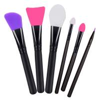 6pcs Silicone Facial Mask Brushes for Mud, Clay, Charcoal Mixed Mask, Ultra Soft Mask Moisturizers Applicator Makeup Tools and Body Butter Applicator Tools