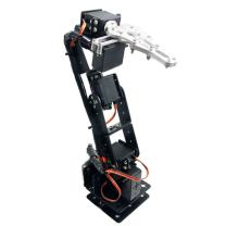 diymore Black ROT3U 6DOF Aluminium Robot Arm Mechanical Robotic Clamp Claw Kits for Arduino Without Servos(Unassembled Parts)