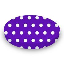 SheetWorld Round Crib Sheets - Polka Dots Purple - Made In USA