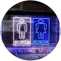 "ADVPRO Restroom Male Female Boy Girl Toilet Dual Color LED Neon Sign White & Blue 16"" x 12"" st6s43-i3029-wb"