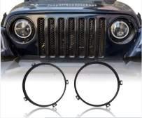 Jeep Wrangler 7inch Round Headlight Mounting Bracket Black Ring for 2007-2018 Jeep JK & Wrangler Unlimited