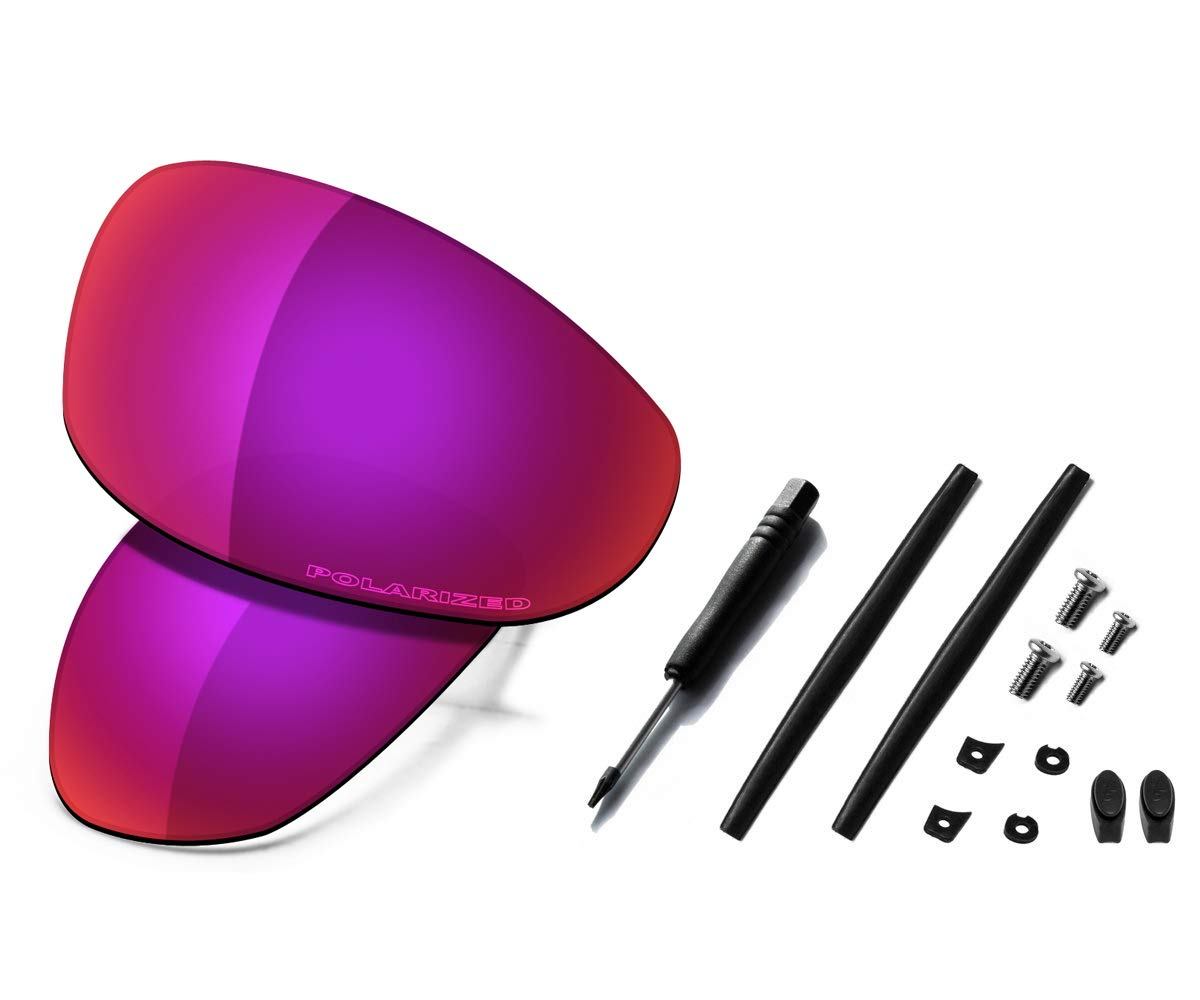 Saucer Premium Replacement Lenses & Rubber Kits for Oakley Juliet Sunglass