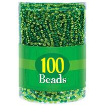 Amscan Oblong Beads Pack Necklace, 100 Ct, 7.2 x 5.8 x 5.8, Green/Light Green
